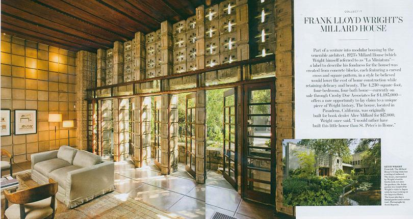 Wall Street Journal: The Millard House